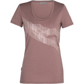 Icebreaker Tech Lite SS Scoop Shirt St Anton Women, suede
